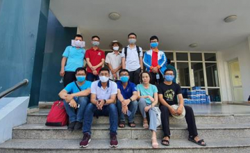 UIT's lecturers and Vietnam National University – Ho Chi Minh City  (VNU-HCM) go hand in hand to set up a COVID-19 isolation area