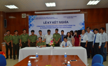 Signing ceremony between Trade Union – UIT and PA88 - Binh Phuoc Police