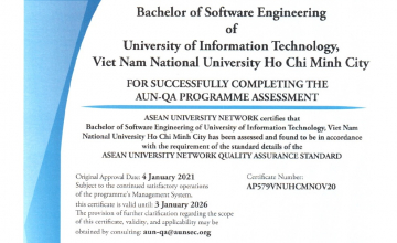 Another UIT's training program satifies  the AUN-QA certification requirements