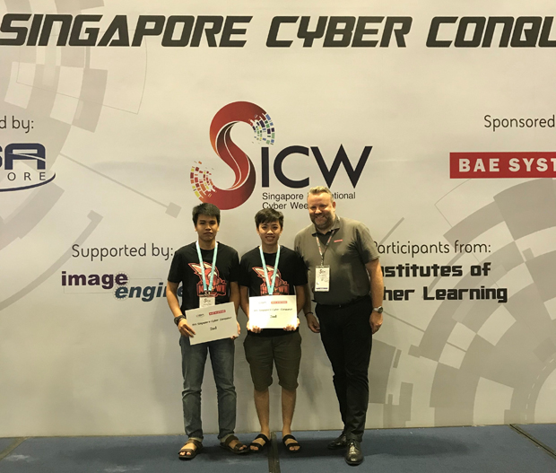 Student Pham Hong Phi and Bui Minh Tien Dat won the second prize