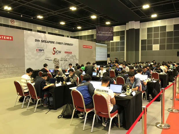 Contest scene of Singapore Cyber Conquest 2018