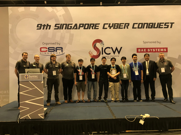 Contest scene award Singapore Cyber Conquest 2018